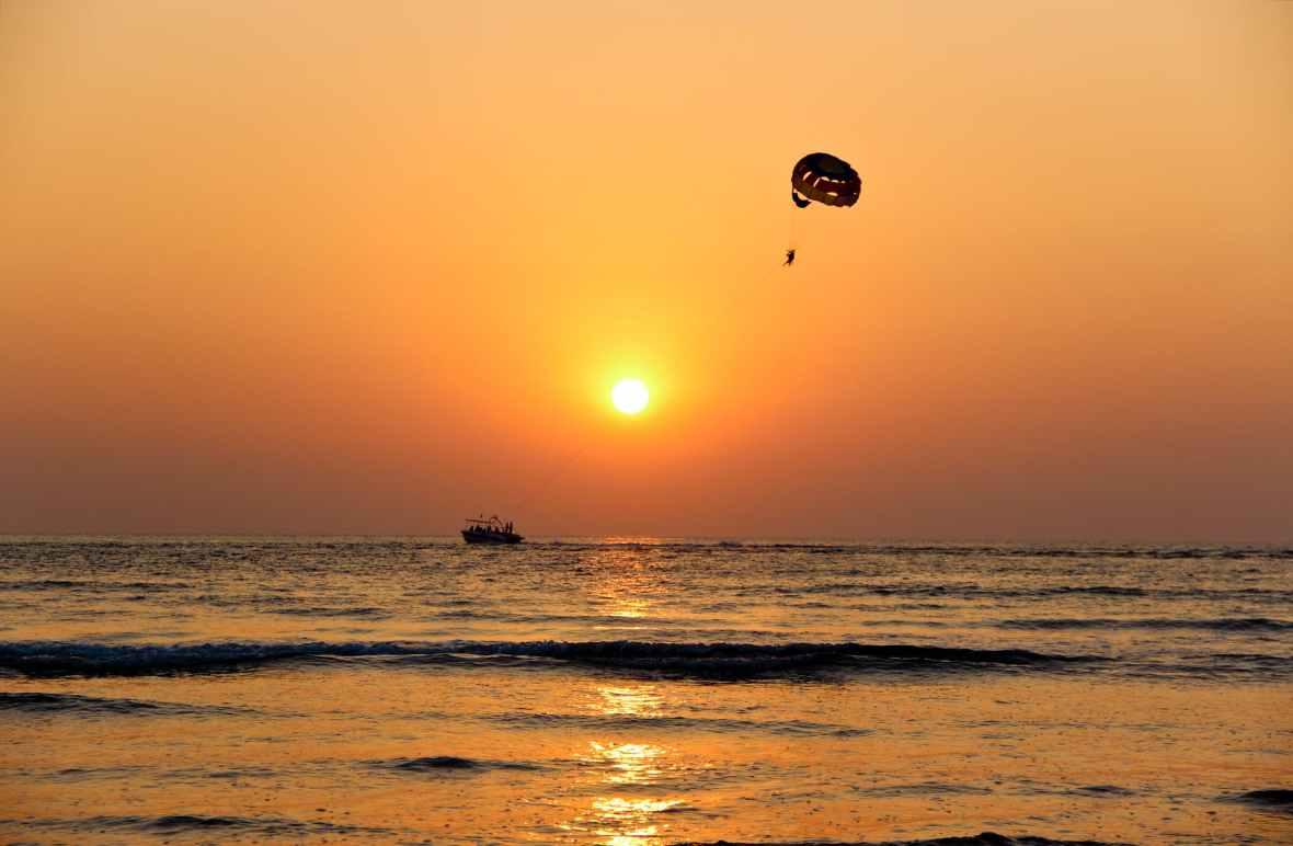 sunset beach ocean seaside